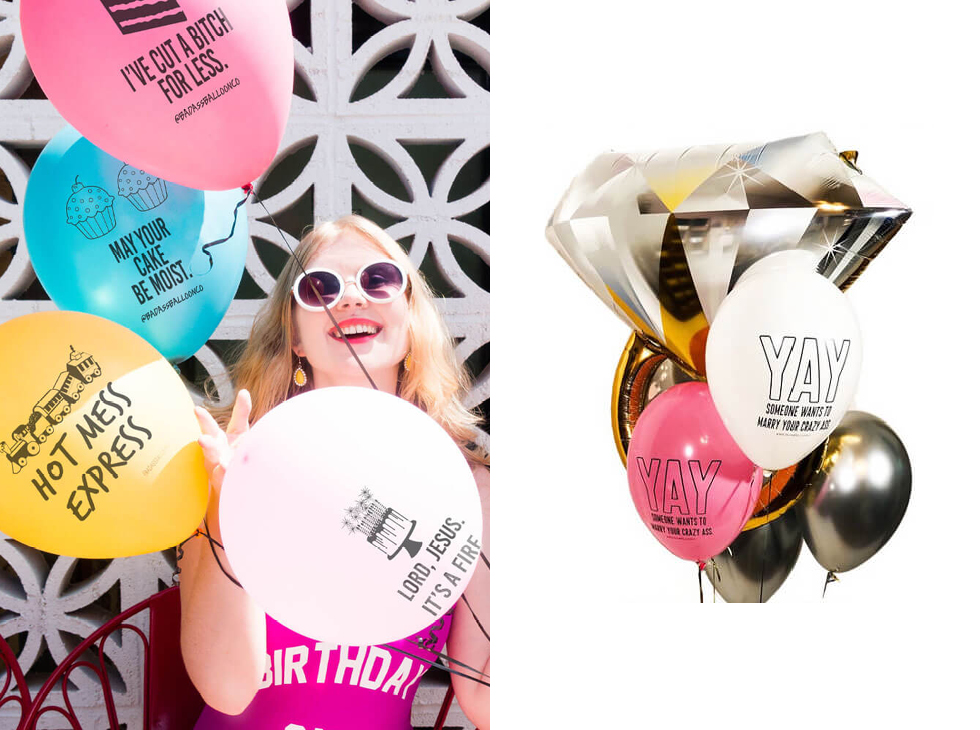 Funny Balloons for Adults by Badass Balloons