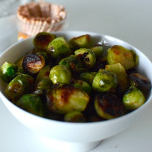 Healthy Party Snack: Caramelized Brussels Sprouts with Black Truffle Dip